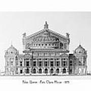 Paris Opera - 1875 Poster