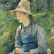 Peasant Girl With A Straw Hat Poster