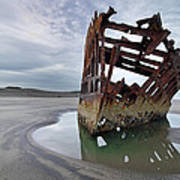 Peter Iredale At Dawn Poster
