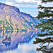 Phantom Ship Overlook In Crater Lake National Park-oregon Poster