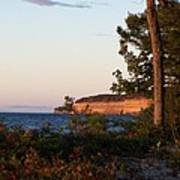 Pictured Rocks At Sunset Poster