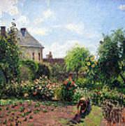 Pissarro's The Artist's Garden At Eragny Poster by Cora Wandel