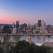 Pittsburgh Skyline At Sunset Poster