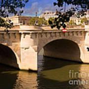 Pont Neuf Over The Seine River Paris Poster