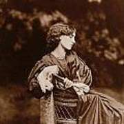 Portrait Of Jane Morris Poster by John Parsons