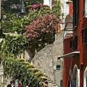 Positano Street Scene Poster
