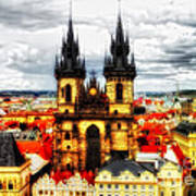 Prague Church Of Our Lady Before Tyn Poster