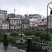 Praza Da Ferreria In Pontevedra Poster