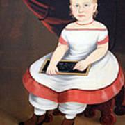 Prior Hamblin School's Little Girl With Slate Poster
