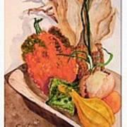 Pumpkin In Bowl Poster