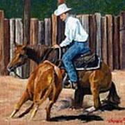 Quarter Horse Cutting Horse Poster