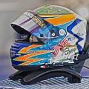 Racing Helmet 2 Poster