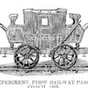 Railroad Passenger Car Poster