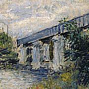 Railway Bridge At Argenteuil Poster