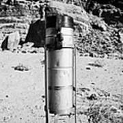 Rain Gauge At Valley Of Fire State Park Nevada Usa Poster