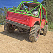 Red Off Road Car  Poster