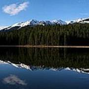 Reflection Bay - Jasper, Alberta - Panorama Poster
