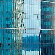 Reflections In Modern Glass-walled Building Facade Poster