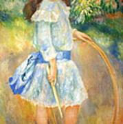 Renoir's Girl With A Hoop Poster