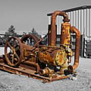 Retired Petroleum Pump Poster