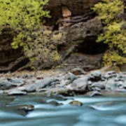 River Flowing Through Rocks, Zion Poster