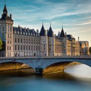 River Seine And Conciergerie Poster