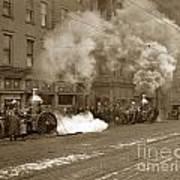 Steam Pumper Rochester Show Case Co. Fire Circa 1890s Poster