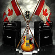 Rock N Roll Crest - Canada Poster by Frederico Borges
