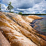 Rocky Shore Of Georgian Bay Poster by Elena Elisseeva