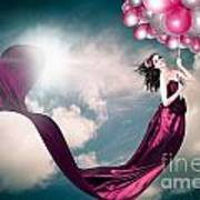 Romantic Girl In Love With Beauty And Fashion Poster