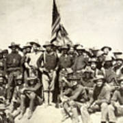 Roosevelt & Rough Riders Poster