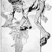 Roosevelt Cartoon, 1905 Poster