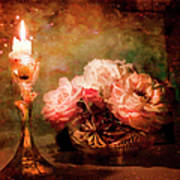 Roses By Candlelight Poster