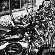 Row Of Harley Davidson Motorbikes Including Sportster Outside Motorcycle Dealership Orlando Florida  Poster