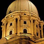 Royal Palace Dome In Budapest Poster
