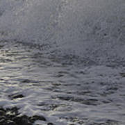 Rushing November Waves Poster