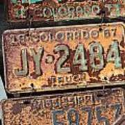 Rusted Plates Poster