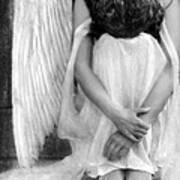 Sad Angel Woman Poster