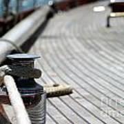 Sail Boat Rope Poster