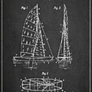 Sailboat Patent Drawing From 1938 Poster