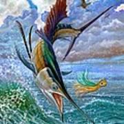 Sailfish And Lure Poster