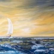 Sails At Sunset Poster