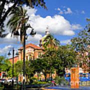 San Blas Park In Cuenca Ecuador Poster