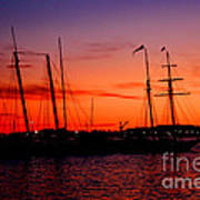 San Diego Harbor Sunset Poster