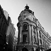 Santiago Stock Exchange Building Chile Poster