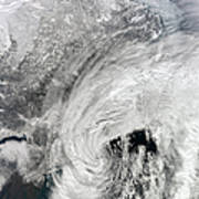 Satellite View Of A Large Noreaster Poster