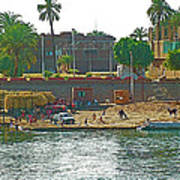 Scene Along Nile River Between Luxor And Qena-egypt  Poster