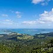 Scenic Coromandel Peninsula Nz Coastline Seascape Poster