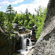 Screw Auger Falls At Grafton Notch State Park  Poster