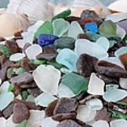 Sea Glass In Many Colors Poster